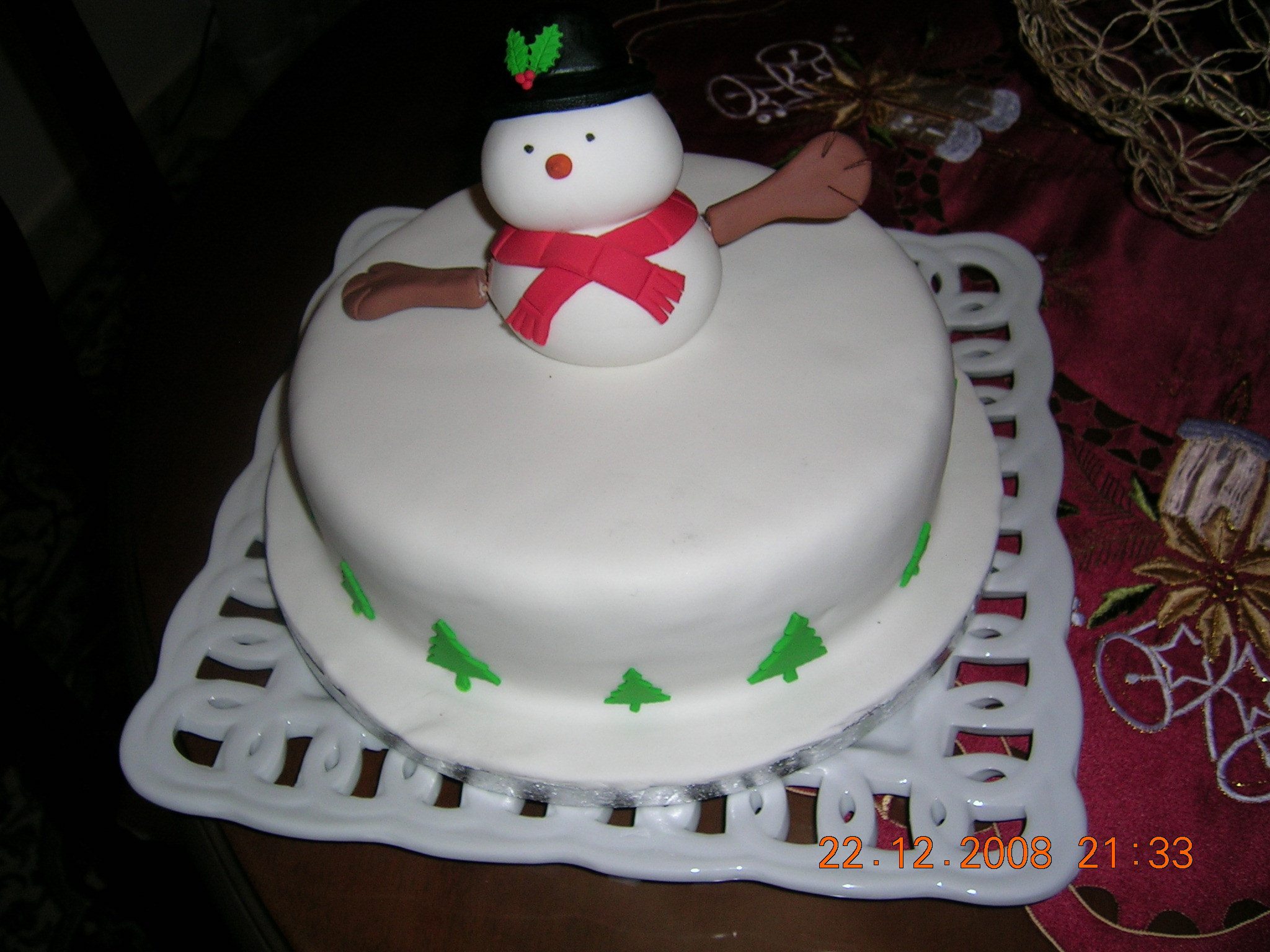 the christmas cake is definitely not a traditional greek cake but it was introduced to us when cyprus was a british colony in the 1950s - British Christmas Cake Decorations