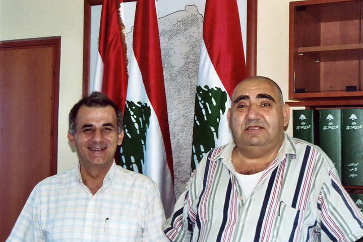 Walid and the mayor Mr.Maroun.