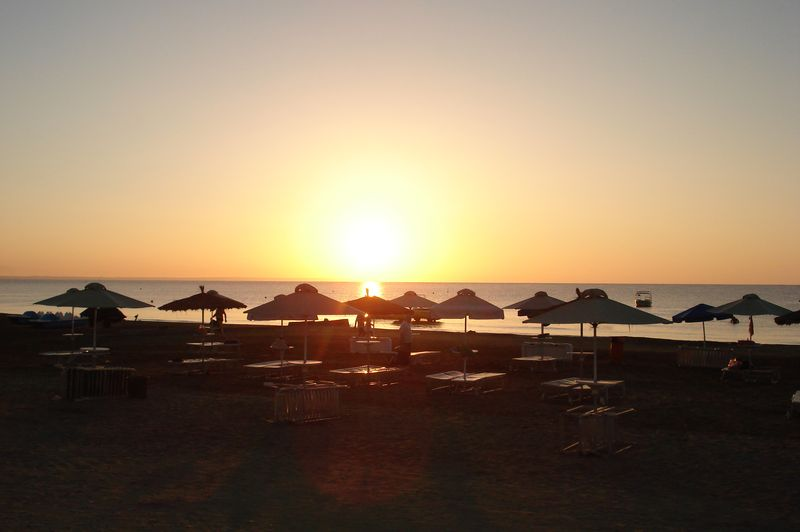 sunrise in larnaca