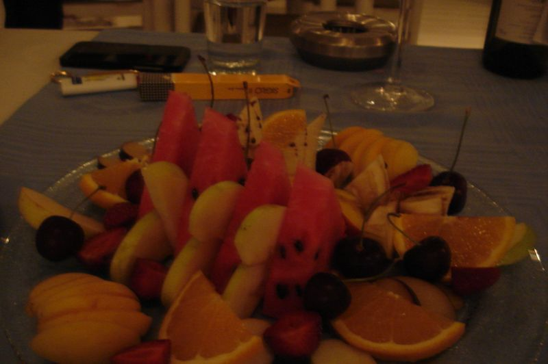 platter of fruit