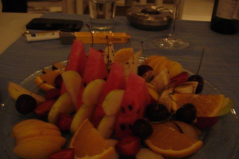 platter of fruit