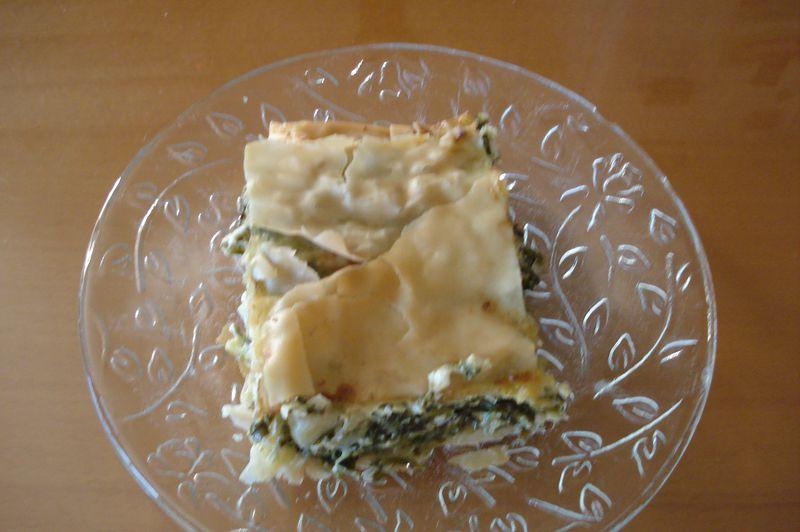 hortopita-leafy greens pie