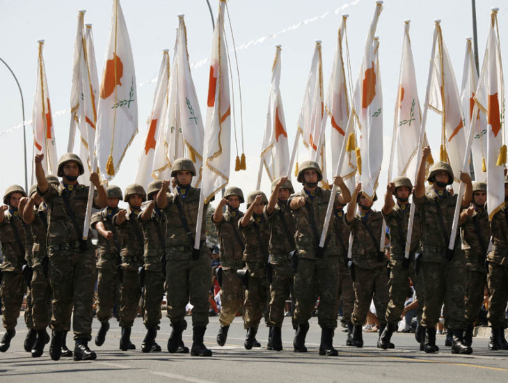 Cyprus independence day - military parade